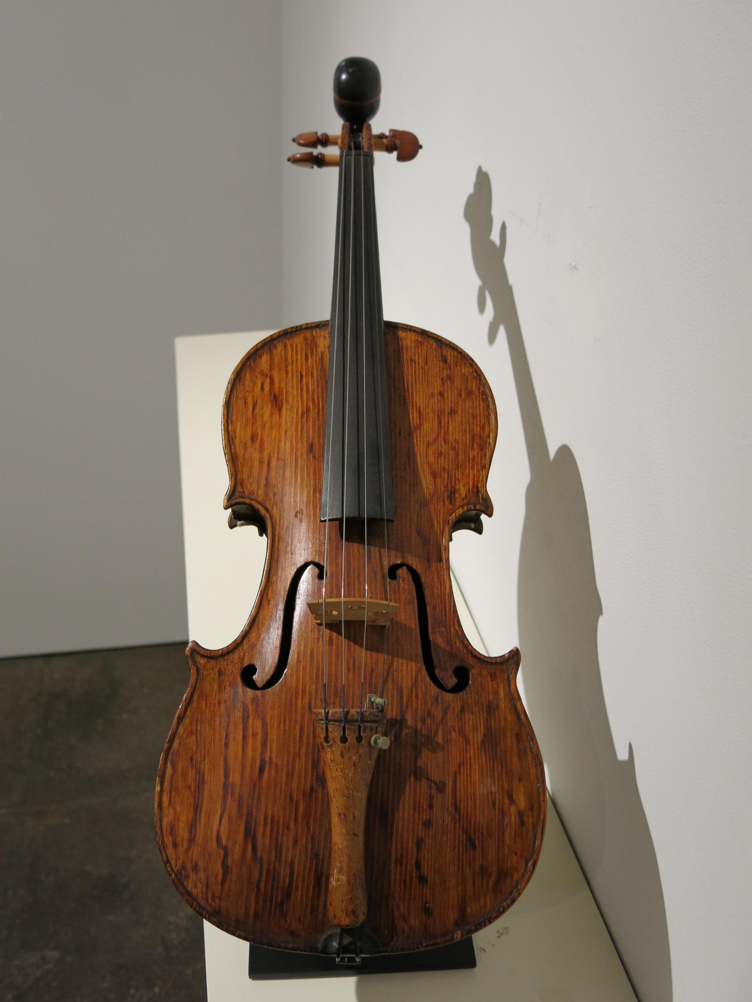 Edmond Martin, Violin, early 20th c., wood, strings, 24h x 8w x 3d in.