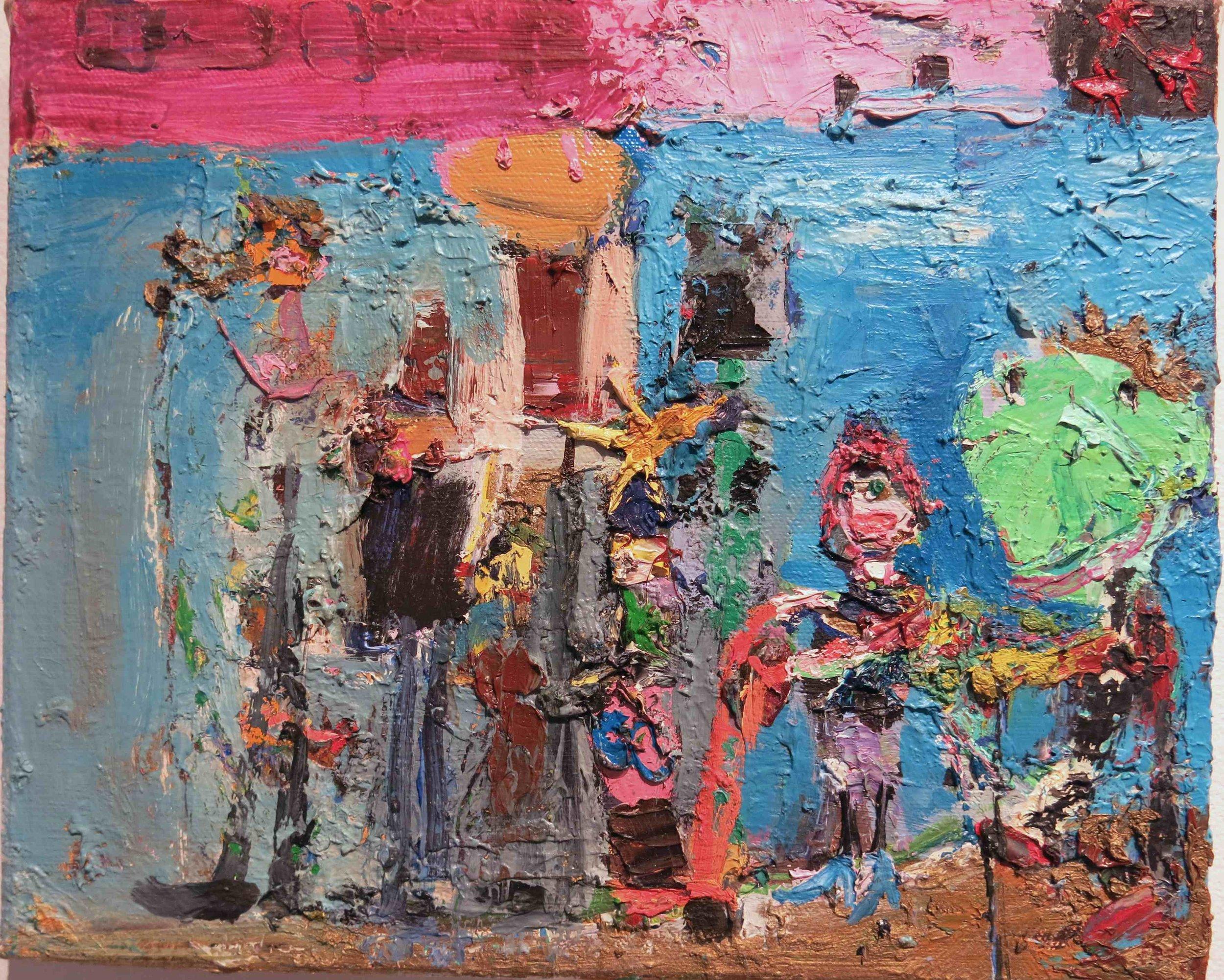 Matt Blackwell, Procession (study) , 2007, Oil on canvas, 9h x 11w in.