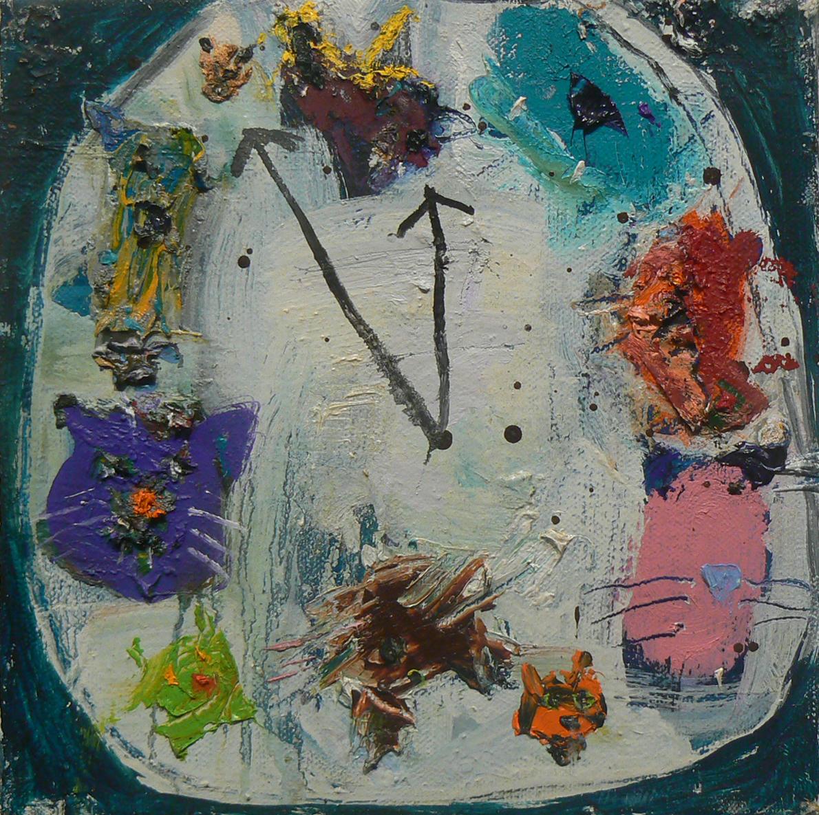 Matt Blackwell, Puss O'Clock , 2013, Oil on canvas, 8h x 8w in.