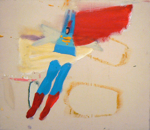 Katherine Bradford, Clear Underpants , 2011, Acrylic on raw canvas, 28h x 32w in.