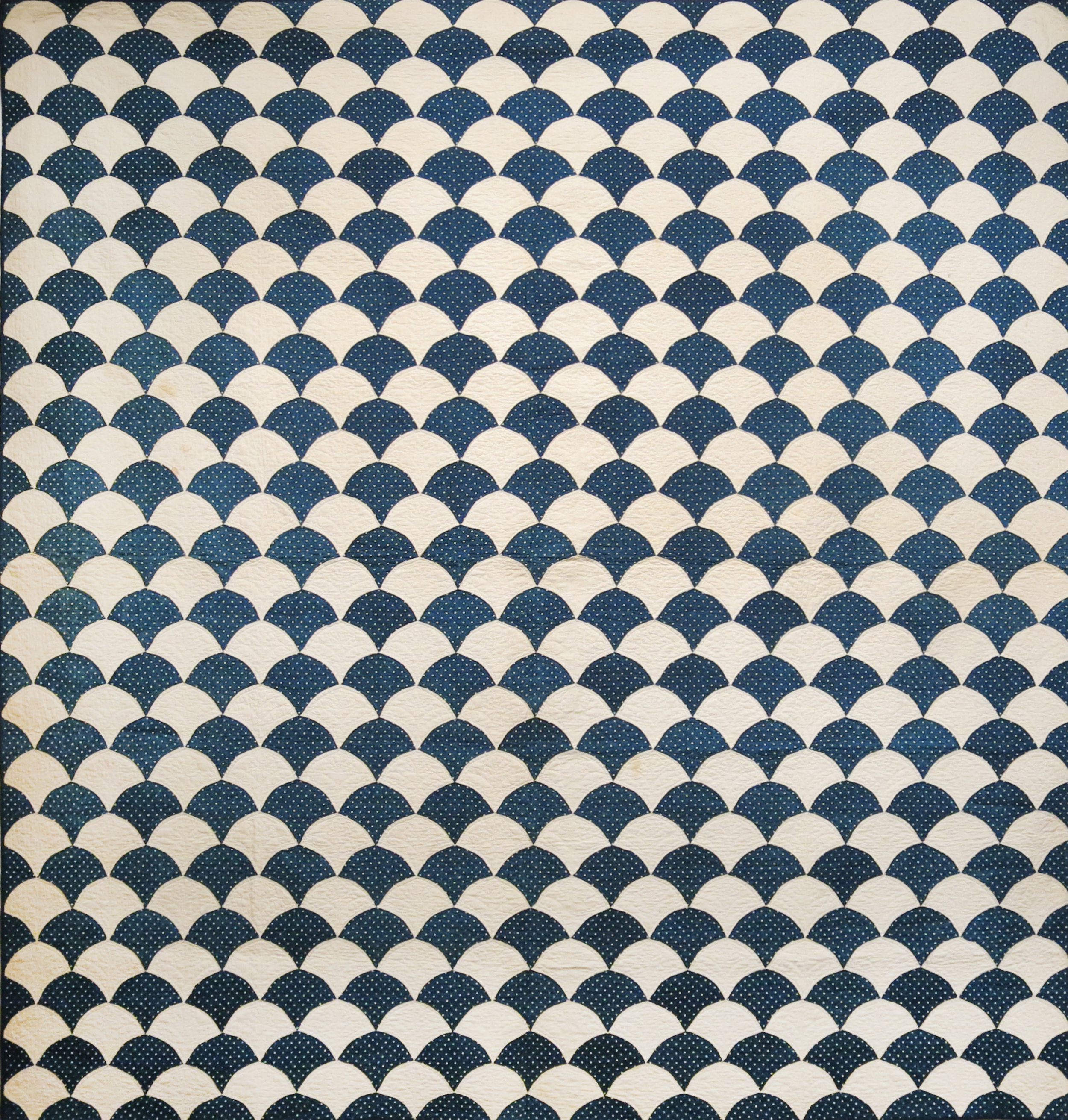 American, Clam Shell Quilt , Third quarter 19th century, cotton, 72h x 76w in.