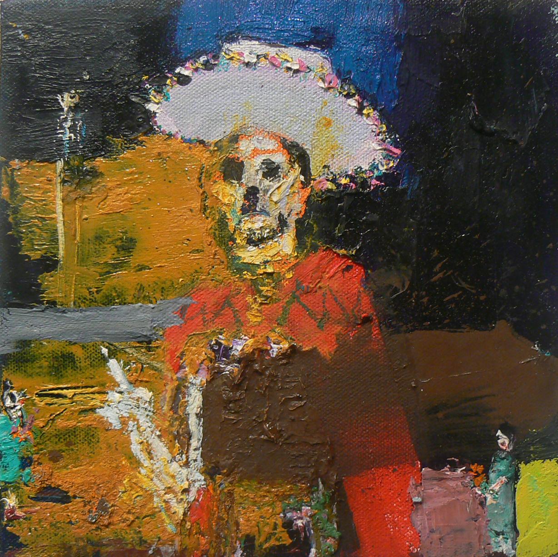 Matt Blackwell, Senor , 2009, Oil on canvas, 8h x 8w in.