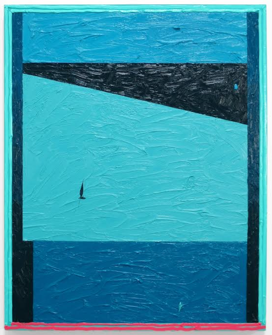 Russell Tyler,  TDC , 2014, oil and acrylic on wood panel, 30h x 24w in.