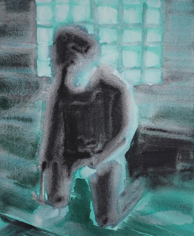 Kurt Lightner, Hammer , 2014, acrylic on canvas, 27h x 22w in