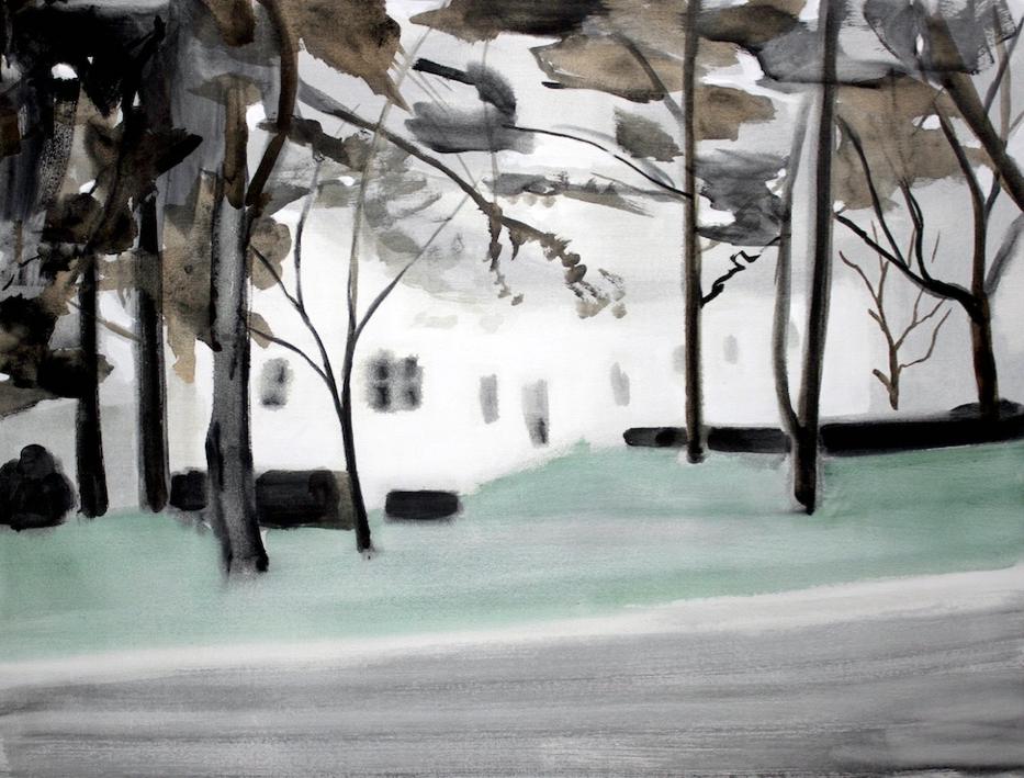 Kurt Lightner, George C , 2014, acrylic on canvas, 38h x 50w in