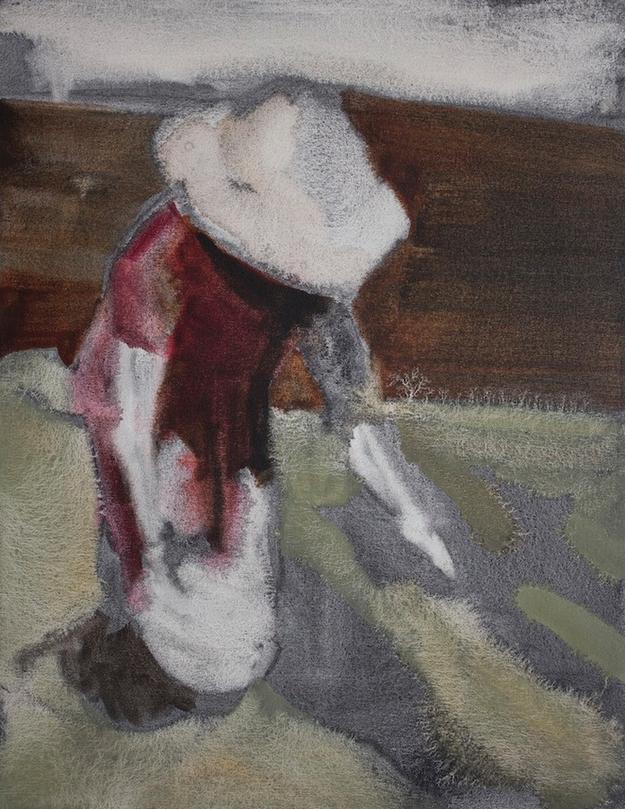 Kurt Lightner, Sower 1 , 2014, oil on canvas, 23h x 18w in.