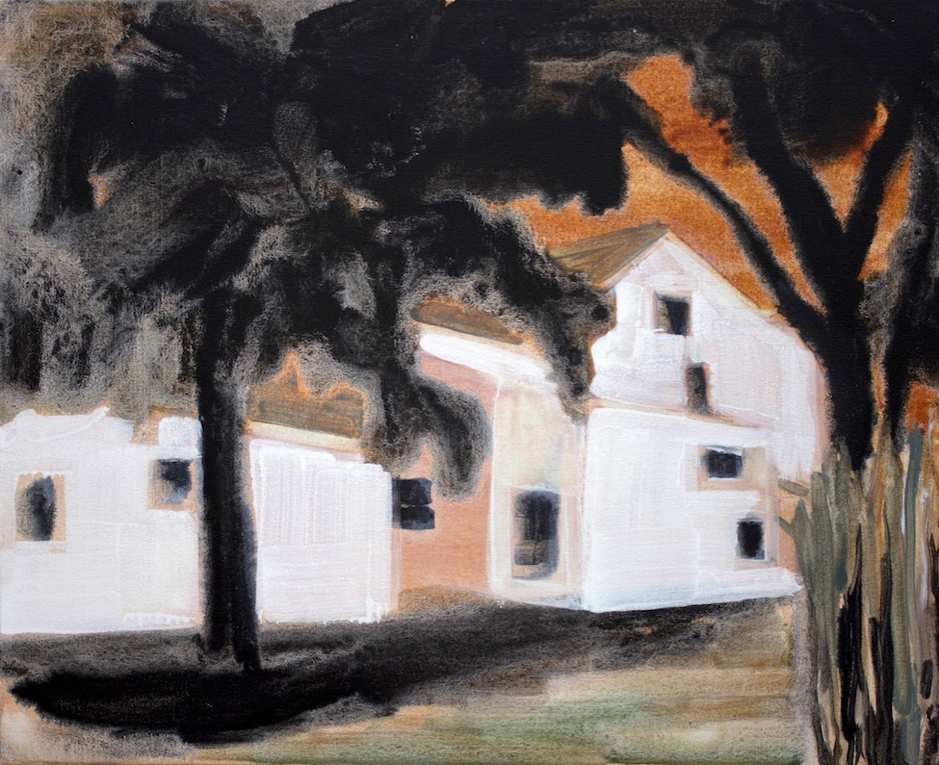 Kurt Lightner, Charles , 2014, acrylic on canvas, 22h x 27w in.