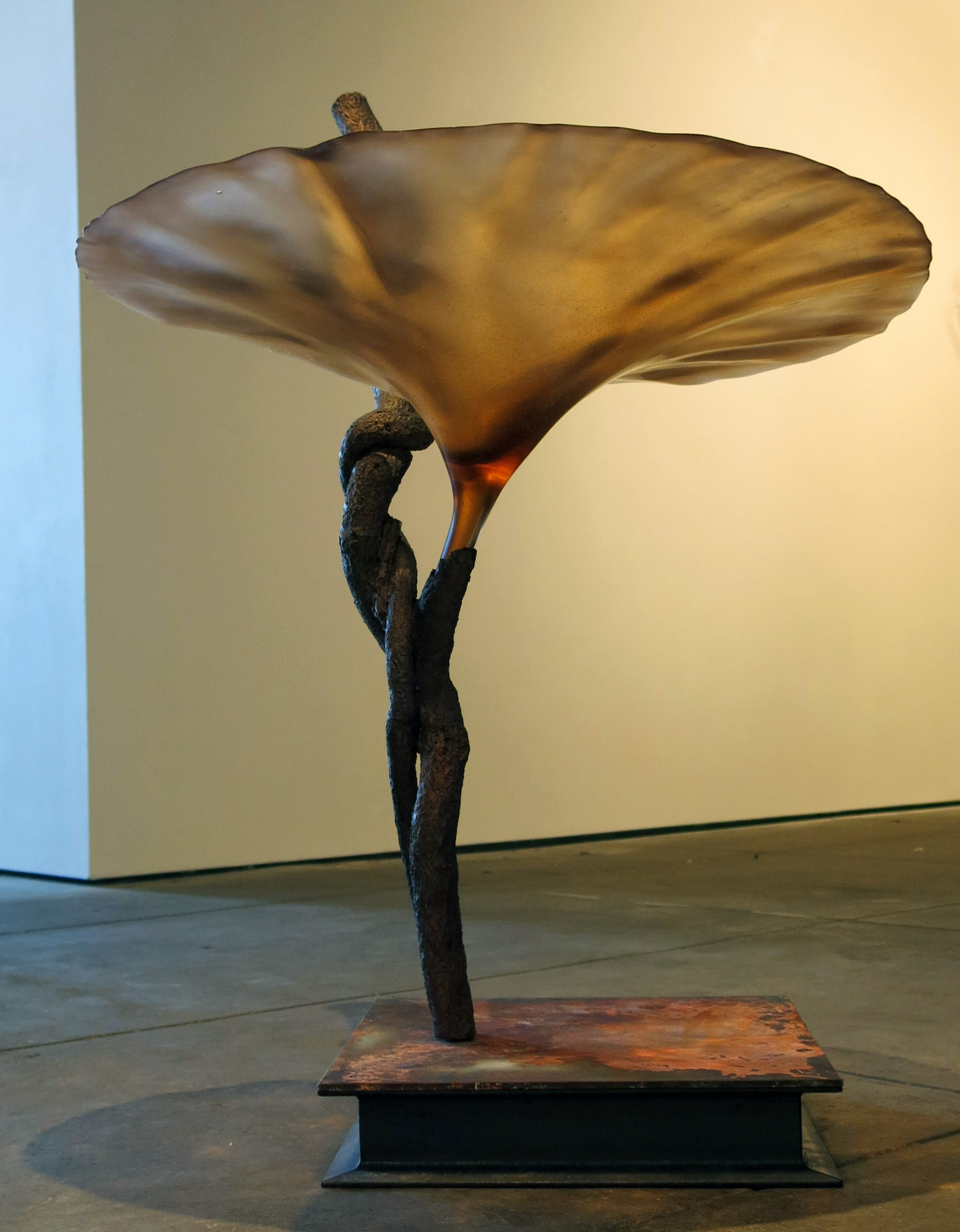 Markus Baenziger,  Uncommon Ground , 2014, bronze, metal, and synthetic resin, 39.5h x 27w x 27d in.
