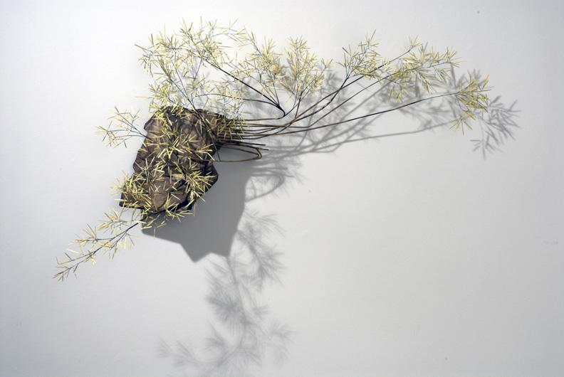 Markus Baenziger, Unbound , 2014, bronze, brass, paint, 29h x 46w x 18d in.