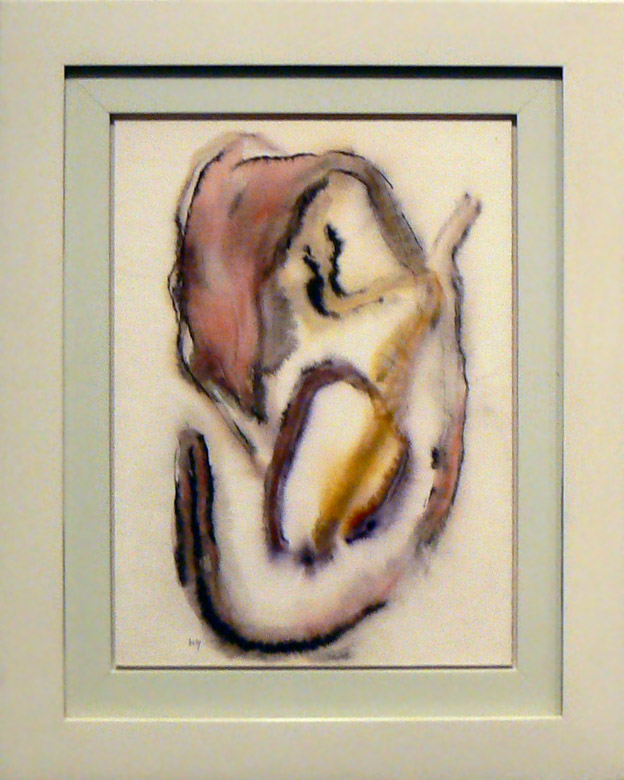Henri Michaux, 1970, Untitled , Watercolor on paper, 14.75h x 10.75w in.