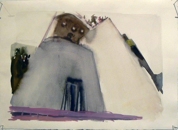 Judith Simonian, 2010, Armenian School , Acrylic on paper, 15h x 11w in.