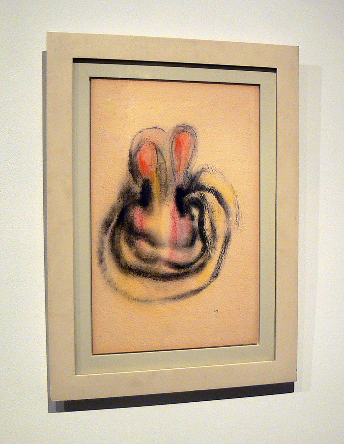 Henri Michaux, 1953, Untitled , Pastel, watercolor on paper, 20h x 12.75w in.