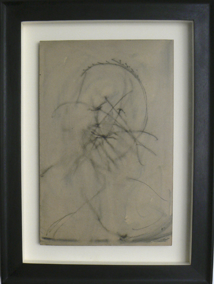 Henri Michaux, c. 1945-49, Untitled , Ink on paper, mounted on board, 19h x 12.25w in.