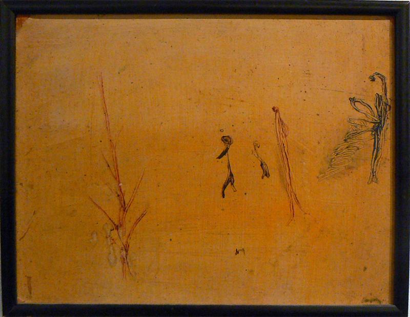 Henri Michaux, c. 1946, Untitled , Oil on board, 8h x 10w in.