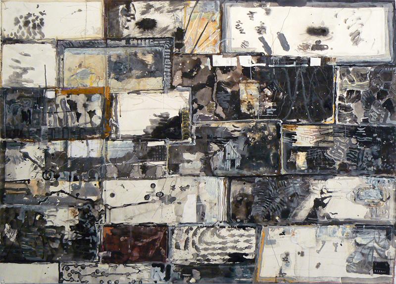 David Scher, 2012, Mars , Mixed media, 30h x 41.25w in