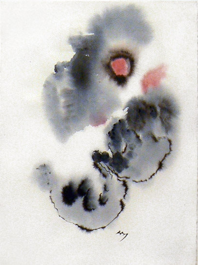 Henri Michaux, 1979, Untitled , Watercolor on paper, 15h x 11w in.