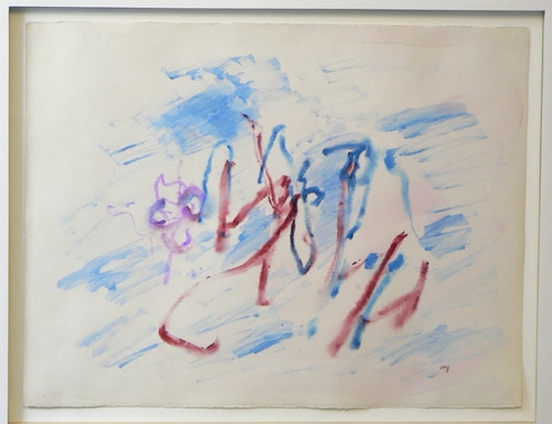 Henri Michaux, 1960, Untitled , Watercolor on paper, 19.5h x 25.5w in.