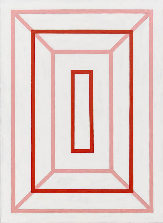 Andrew Spence, 2012,  Red Pink White 4 , Oil on canvas, 22h x 16w in.