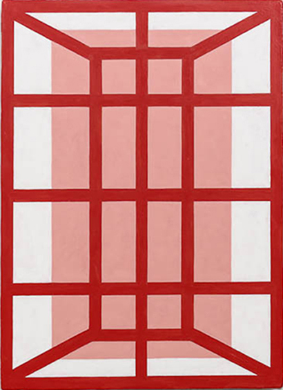 Andrew Spence, 2012,  Red Pink White 5 , Oil on canvas, 22h x 16w in.