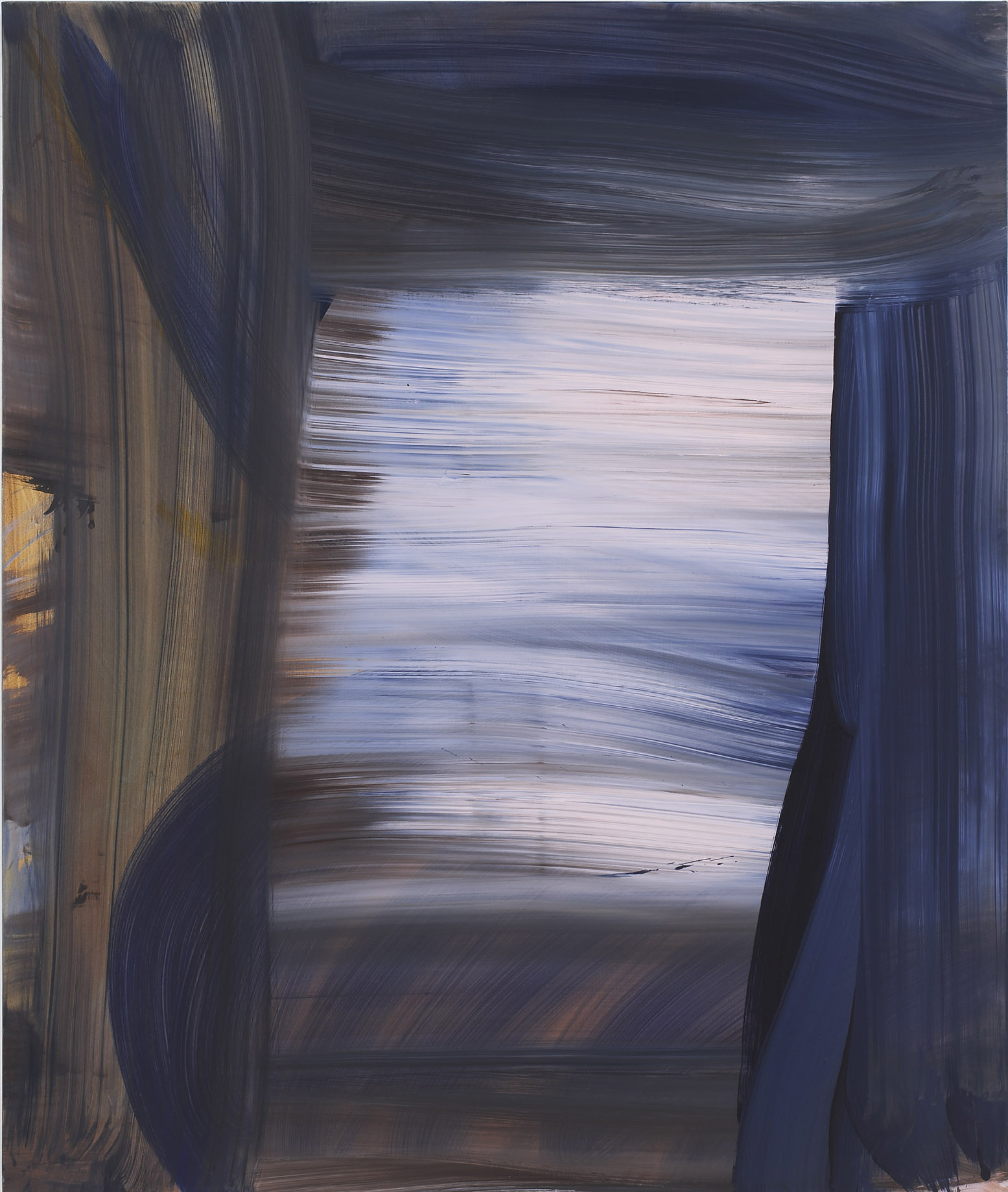 Andrea Belag, 2012,  Retrace , Oil on linen, 45h x 38w in.