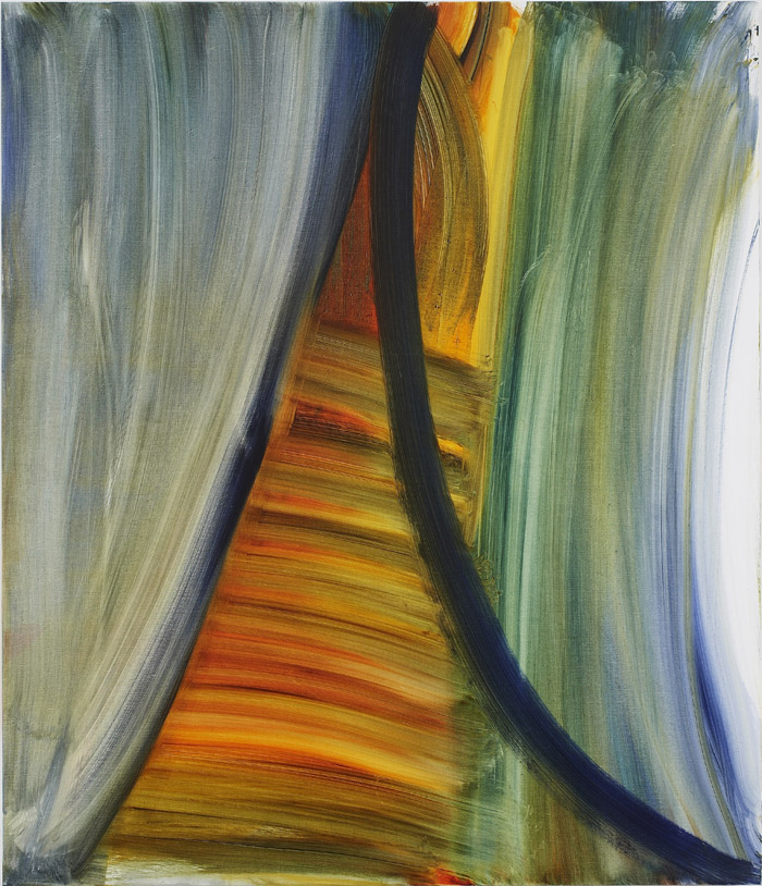 Andrea Belag, 2012,  Torn Curtain , Oil on linen, 56h x 48w in.