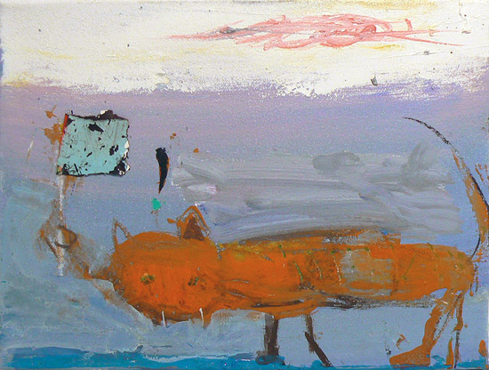 Matthew Blackwell, Puss With Nag, 2013, Oil on canvas, 9h x 12w in.