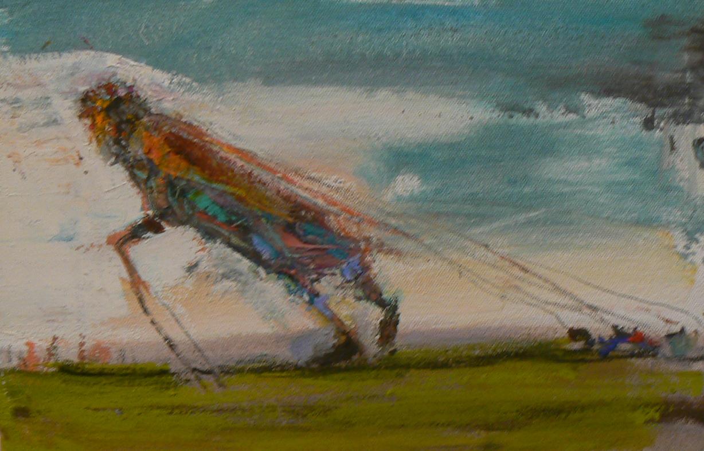 Matthew Blackwell, Wayfayer's Load, 2013, oil on canvas, 8h x 12w in.
