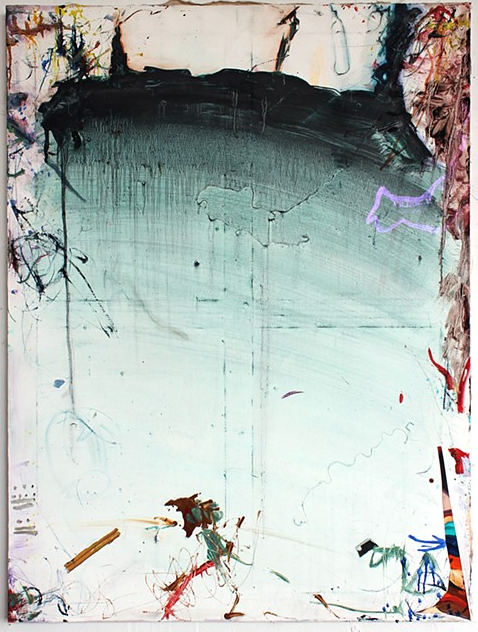 Mike Olin, 1492, 2013, oil, mixed media on linen, 36h x 27w in.