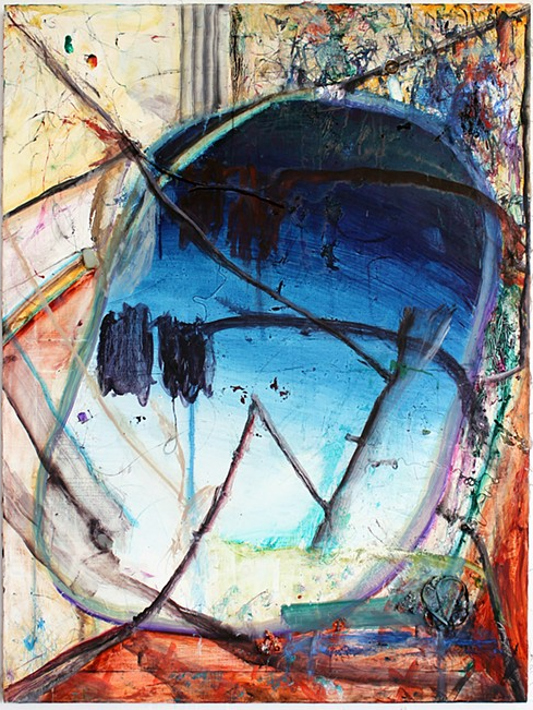 Mike Olin, Snoopy Come Home, 2011-2012, oil, mixed media on linen, 36h x 27w in.