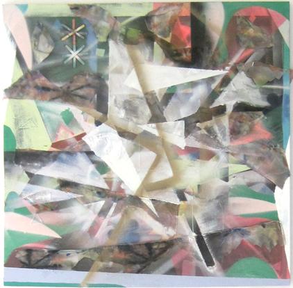 Patrick Brennan, Highwayman, 2011, mixed media on canvas, 48h x 48w in.