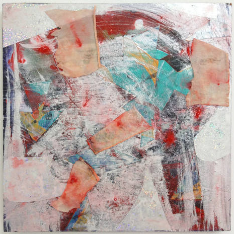 Patrick Brennan, Lost Weekend, 2012, mixed media on wood panel, 12h x 12w in.
