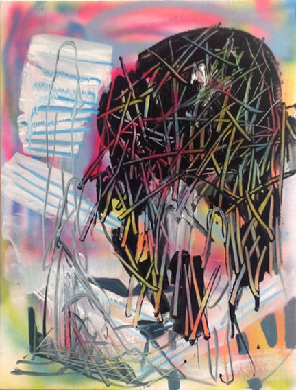 Allison Evans, Untitled, 2013, oil on canvas, 24h x 18w in.