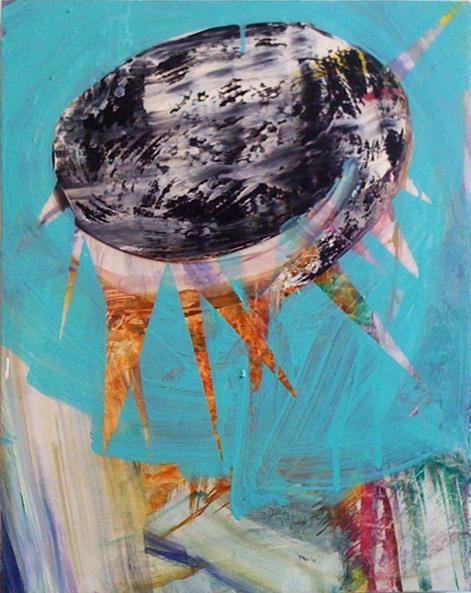 Allison Evans, Zwoosh, 2013, oil on panel, 14h x 11w in.