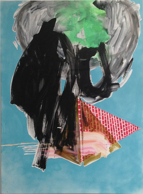 Allison Evans, Pyramids, 2013, oil on canvas, 50h x 38w in.