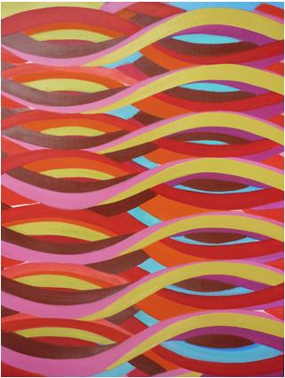 Jenifer Kobylarz, Twine, 2013, oil on panel, 18h x 14w in.