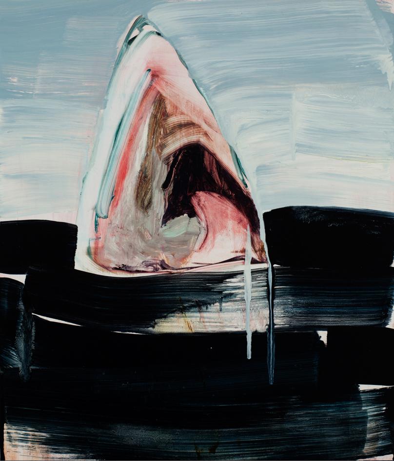 Allison Evans, Gulp, 2012, oil on panel, 14h x 12w in.