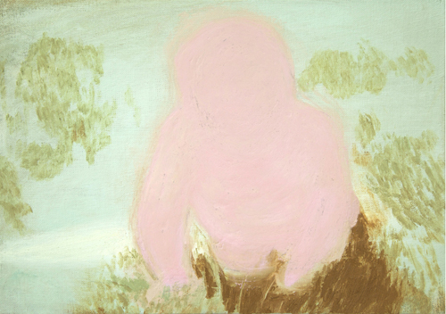 Clare Grill, Pinky, 2011, oil on linen, 12h x 17w in.