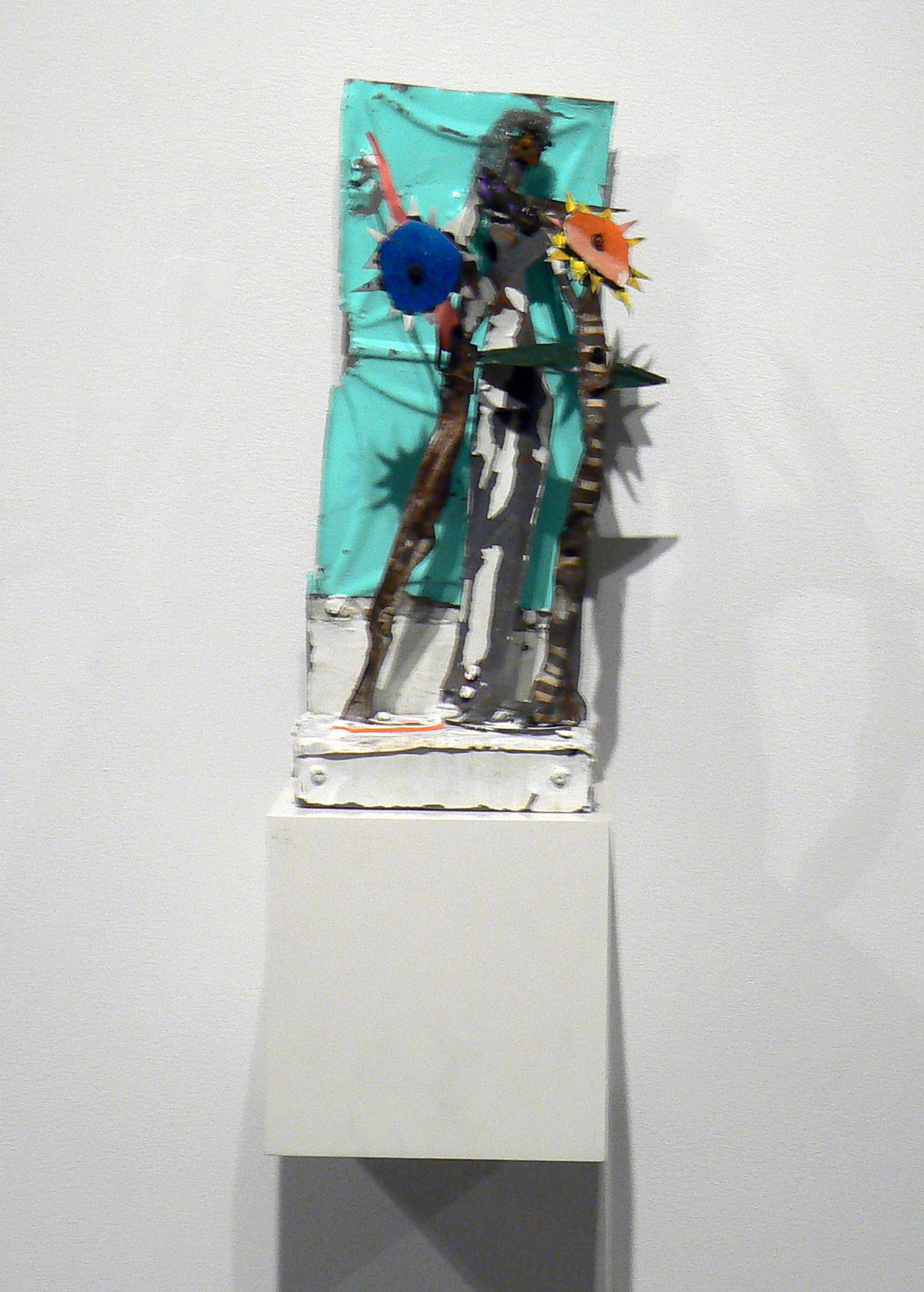 Matthew Blackwell, C'Mon Up on the House, 2008-2010, collage on canvas, 74.25h x 58w in.