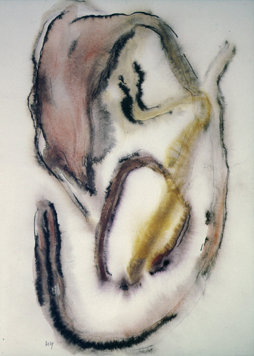 Henria Michaux, Untitled, 1970, watercolor on paper, 14.65h x 10.75w in.