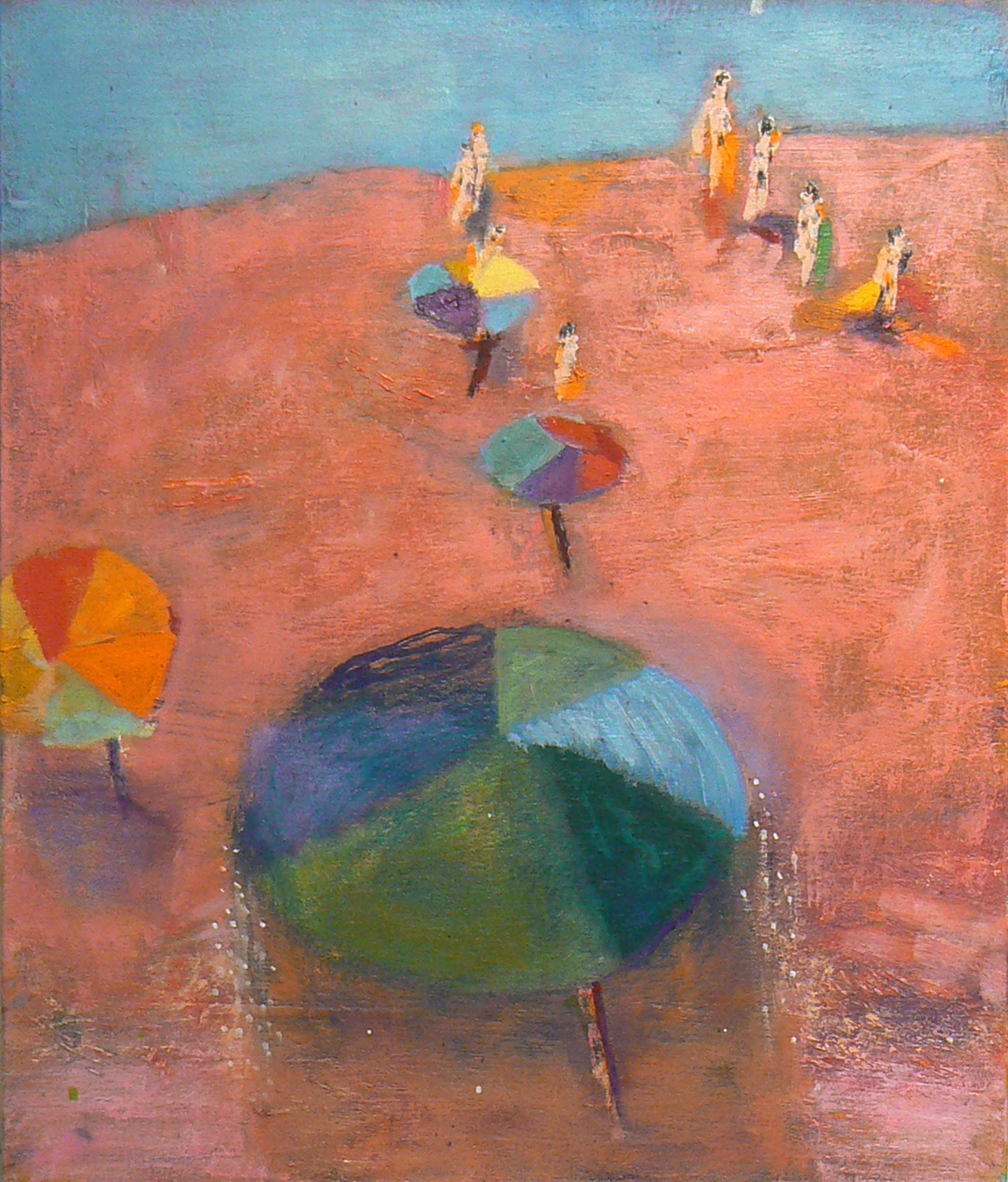 Katherine Bradford, March to Sea, 2009-2010, oil on canvas, 20h x 17w in.