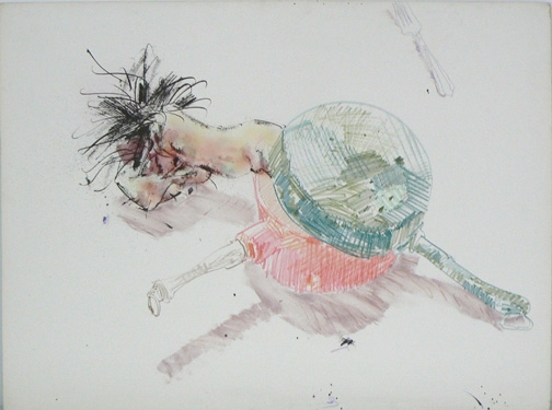 John Altoon, Untitled,  1986 , mixed media on board, 30h x 40w in.