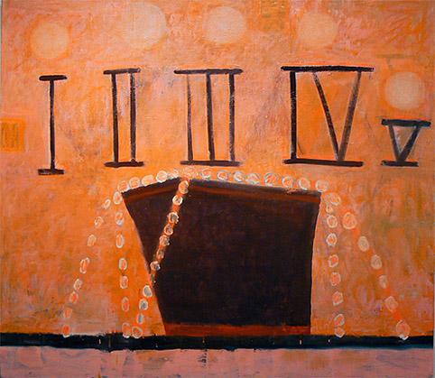 Katherine Bradford, S.O.S., 2012, oil on canvas, 61h x 69w in.