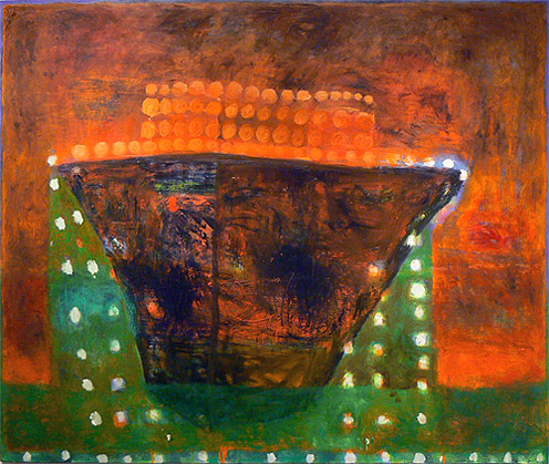 Katherine Bradford, Sargasso, 2012, oil on canvas, 56h x 66w in.