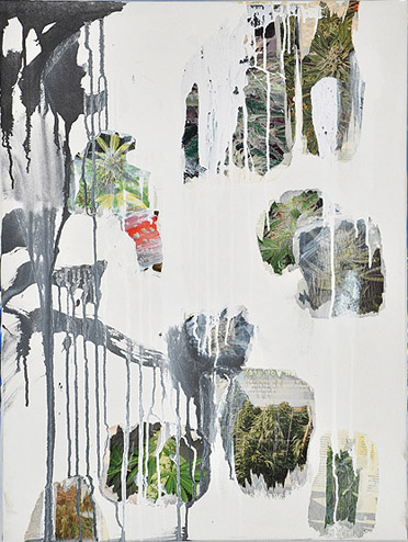 Andrew Guenther, Untitled , 2012, Paper collage, acrylic on canvas, 32h x 24w in.