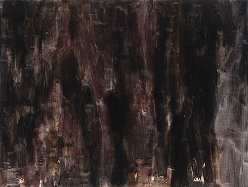 Cora Cohen, Curtain 3 , 2011, Acrylic, flashe, pigment on linen, 69h x 91w in.
