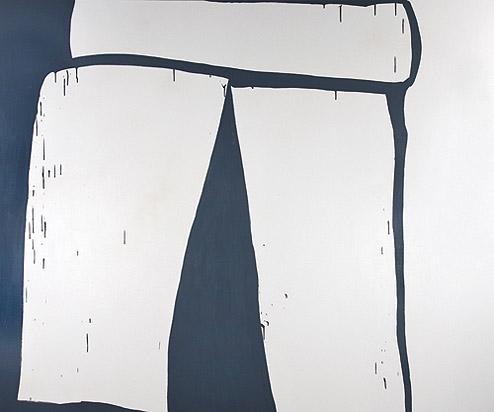 Amy Feldman, The Fact of a Door Frame , 2012, Acrylic on canvas, 80h x 96w in.