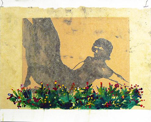 Sarah Gamble, Untitled , 2012, Mixed media, 14 x 17w in.