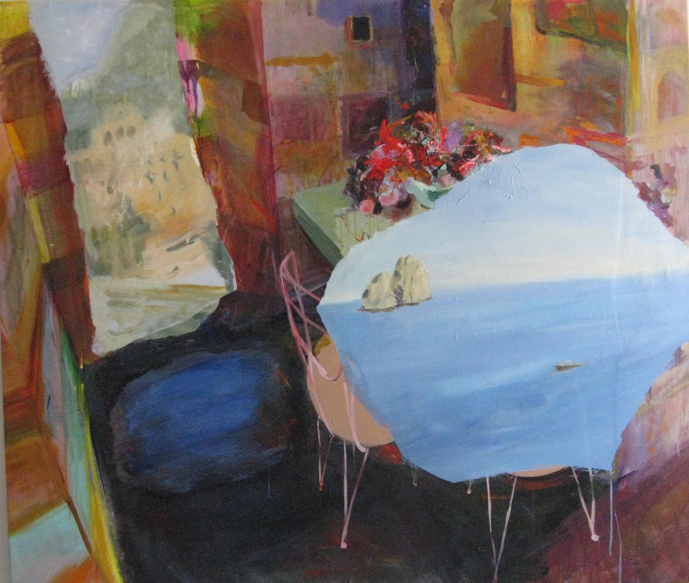 Judith Simonian, Sublet, 2016, acrylic on canvas, 64h x 74w in.