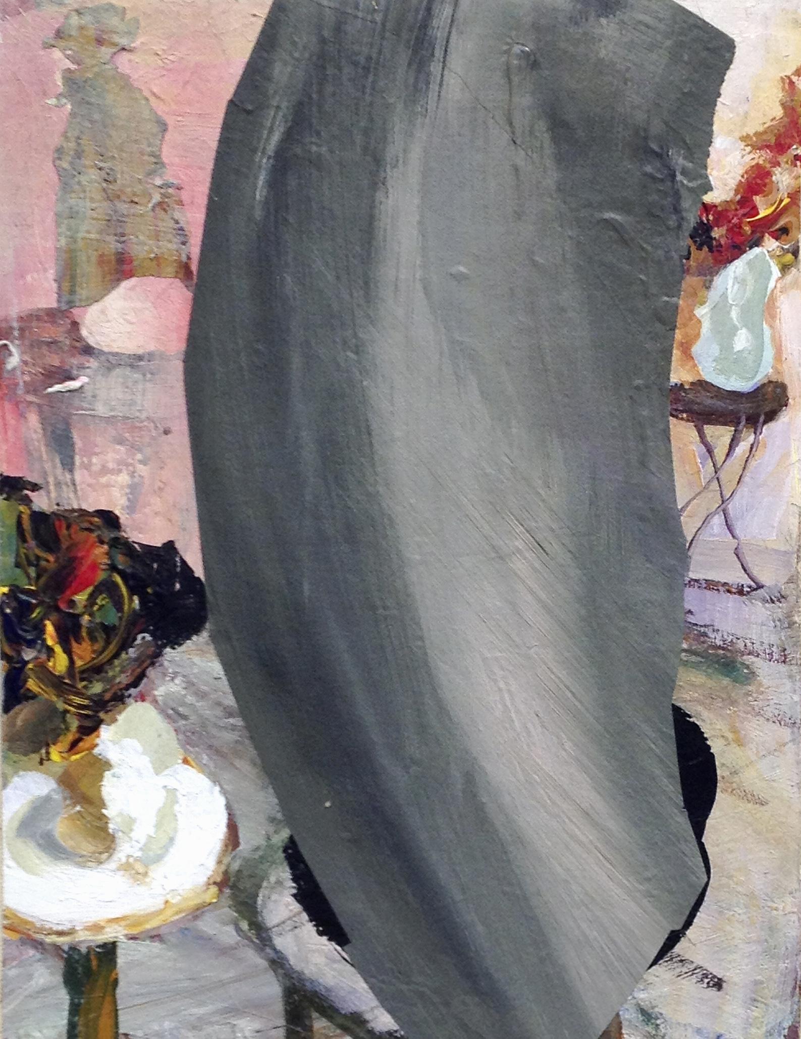 Judith Simonian, The Elephant, 2017, acrylic on canvas, 11h x 9w in.