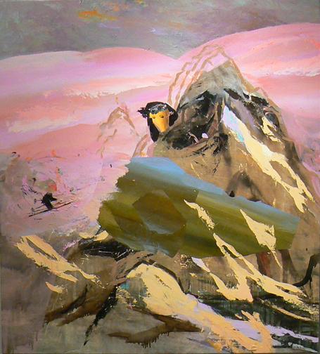 Judith Simonian, Moving Mt. Ararat, 2010, acrylic on canvas, 64h x 58w in.